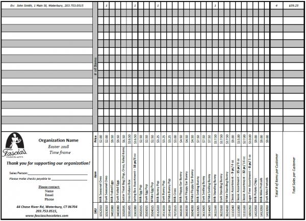 Sample Fundraising Form